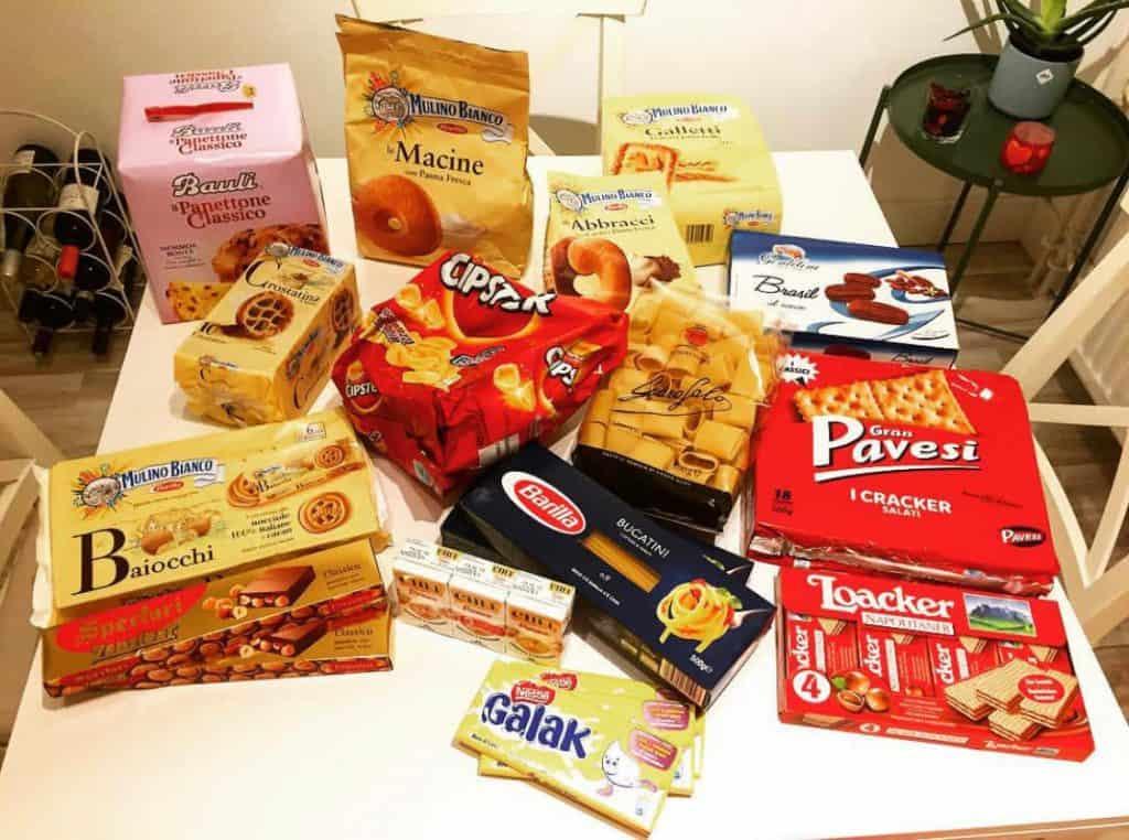 Pavesini, Biscotti, Crackers e altri Prodotti Italiani all'estero