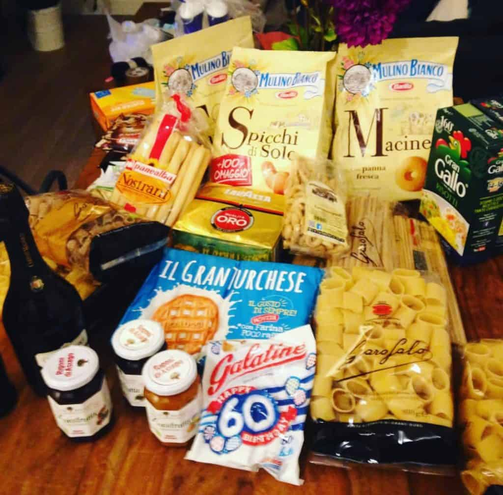 Pasta, biscotti, marmellate e altri prodotti italiani all'estero